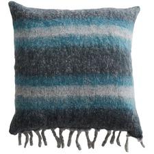 Stripe Cabin Wool-Blend Cushion