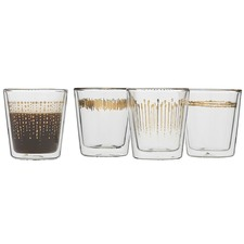 Ecology Comet Set 4 Espresso Double Wall Glass