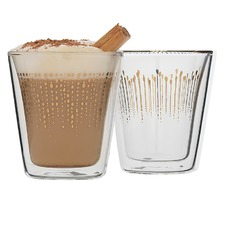 Ecology Comet Set 2 Latte Double Wall Glass