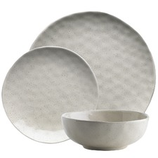 12 Piece Ecology Speckle Oatmeal Dinner Set