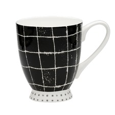 Scribe Carbon Footed Mugs (Set of 6)