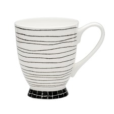 Scribe Trace Footed Mugs (Set of 6)