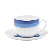 Ecology Watercolour Ocean Teacup & Saucer (Set of 6)