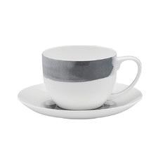 Ecology Watercolour Smoke Teacup & Saucer (Set of 4)