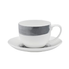 Ecology Watercolour Smoke Teacup & Saucer (Set of 6)