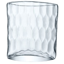 Tulle Dimpled Clear Glass Vase