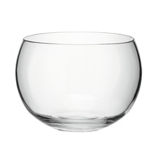 Tall Rounded Clear Glass Serving Bowl