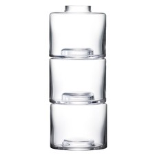 Clear Glass Stacking Vase Trio