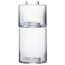 Clear Glass Stacking Vase Duo