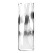 Smoky Cylindrical Glass Vase