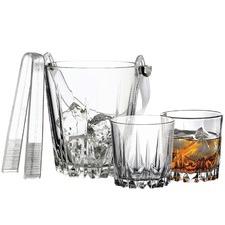 4 Piece Karat Tong & Whisky Glass Set