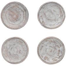 Set of 4 Farmhouse Mango Wood Coasters