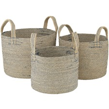 3 Piece Icicle Stitch Nesting Basket Set