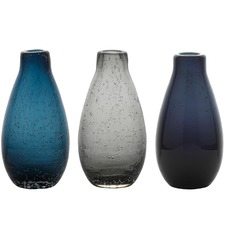3 Piece Halo Droplet  Mood Vase Set