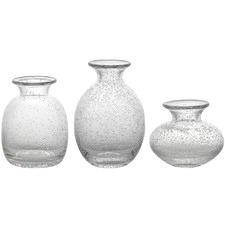 3 Piece Halo Vignette Icicle Vase Set
