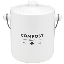 Staples Foundry Porcelain Compost Bin