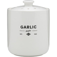 Staples Foundry Porcelain Garlic Keeper