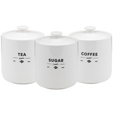 3 Piece Staples Foundry Porcelain Canister Set