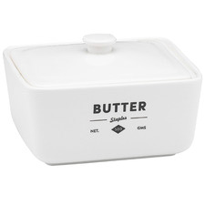 Staples Foundry Porcelain Butter Dish