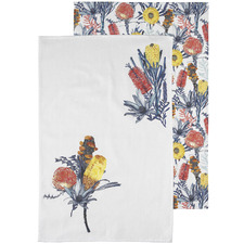 2 Piece Florae Cotton Teatowel Set