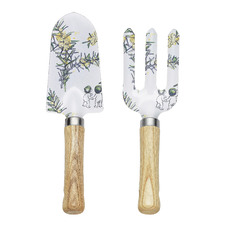 2 Piece White Wattle Garden Tool Set