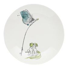 White Butterfly 21cm Fine China Side Plate