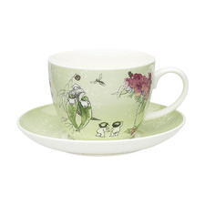 2 Piece Green Gumnut Fine China Cup & Saucer Set