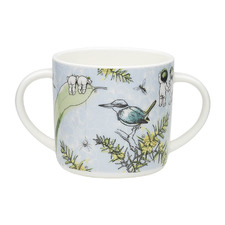 Blue Wattle 220ml Bone China Mug