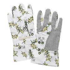 White Wattle Linen Gardening Gloves (Set of 2)