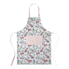 Blue Blossom Cotton Apron with Pocket