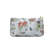 Blue Blossom Cotton Cosmetic Bag