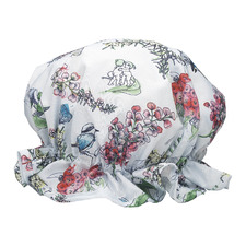White Blossom Shower Cap