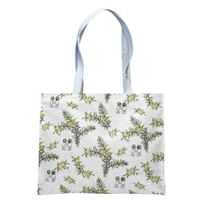 White Wattle Cotton Tote Bag