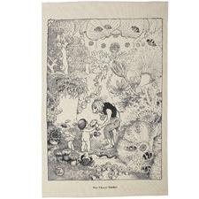 Ann Chovy Garden Cotton Teatowel