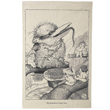 Mrs Kookaburra Cotton Teatowel