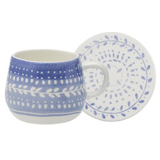 2 Piece Blue Retreat Mug & Coaster Set