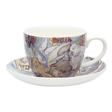 2 Piece Bush Tales Fine China Cup & Saucer Set
