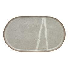 Kintsugi Oval Stoneware Serving Platter