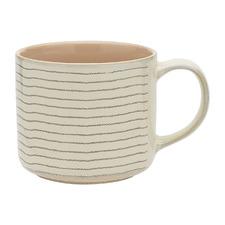 Peach Carbon 340ml Stoneware Mug