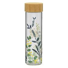 Kallista 550ml Glass Bottle with Bamboo Lid