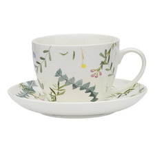 2 Piece Greenhouse Fine China Cup & Saucer Set