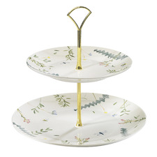 2 Tier Greenhouse Fine China Cake Stand