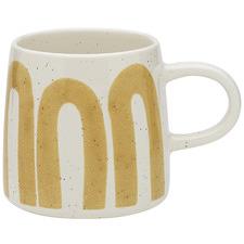 White & Yellow Nomad 340ml Stoneware Mug