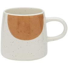 White & Orange Nomad 340ml Stoneware Mug