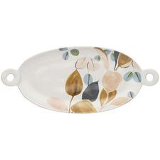 Twiggy Stoneware Oval Platter