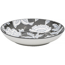 Black & White Tapestry 21.5cm Porcelain Bowl