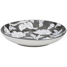 Black & White Tapestry 25.8cm Porcelain Bowl