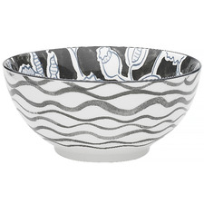 Black & White Tapestry 17.7cm Porcelain Bowl