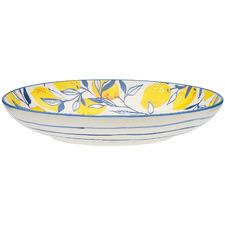 Ecology Punch Lemon 25.8cm Stoneware Shallow Bowl
