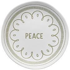 Green Ecology Tidings Peace 20.5cm Stoneware Side Plate